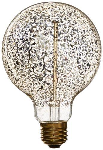 Heirlume Hl-7125Wpack1 Vintage Edison Bulb 25-Watt With Medium Base And Globe Shape, 3.7-Inch X 5.4-Inch, 1-Pack