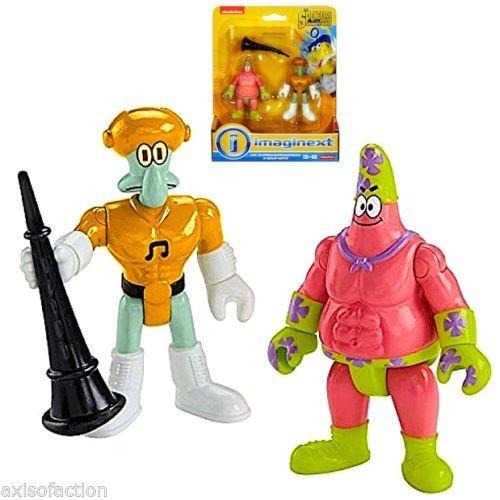 Imaginext Spongebob The Movie Mr Supera Wesomeness & Sour Note Figures Nip