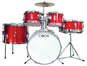 Amazon.com: CODA DS-015-R 5-Piece Drum Set: Musical Instruments