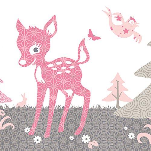 anna-wand-design-frise-murale-auto-adhesive-450-x-115-cm-motif-avec-faon-rehlein-rose-gris-beige-pou