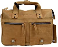 "Vagabond Traveler 15"" Stylish Leather Messenger Shoulder Bag L22"