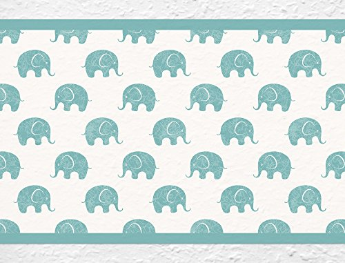 I-Love-de-pared-adhesivo-B-de-10034-habitacin-de-los-Nios-cenefa-Elefante-africano-Safari-Papel-pintado-infantil