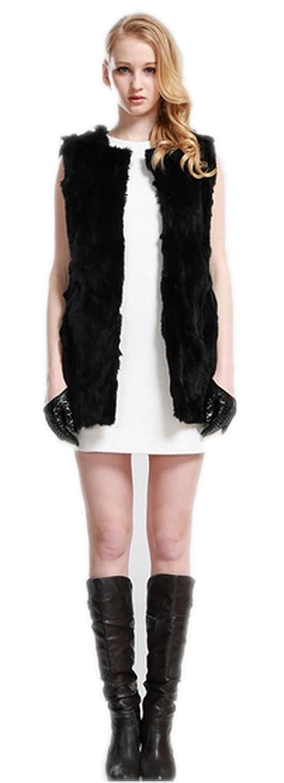 YR.Lover Damen Echt Rex Kaninchen Pelz Weste&waistcoat jetzt kaufen