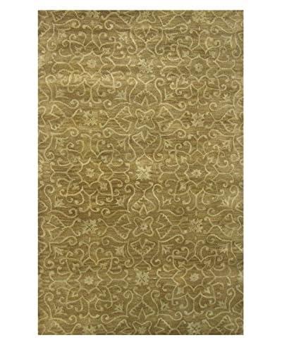 Moti-Meva Belize Hand-Tufted Rug, Brown, 5' x 8'