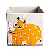 Kid 's Plegable Caja de almacenamiento de juguete y Closet Organizador blanco roto Yellow Cow