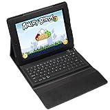 Splash QUANTUM Wireless Bluetooth Keyboard Folio Case for iPad 3/iPad 2, Black (SPL-QTM-IPD)