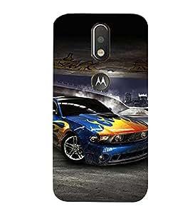 Sports Car 3D Hard Polycarbonate Designer Back Case Cover for Motorola Moto G4