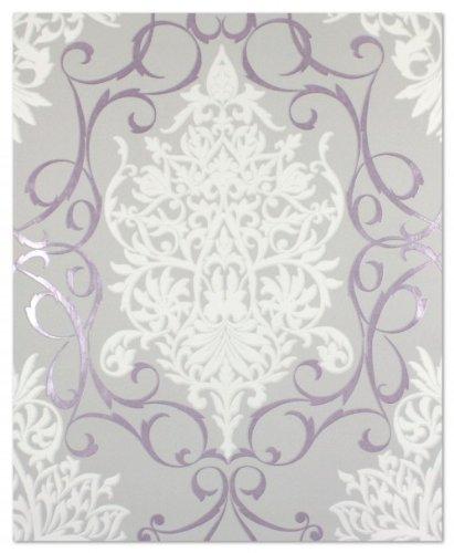 tapete 796162 rasch tapeten queens 2013 violett grau wei. Black Bedroom Furniture Sets. Home Design Ideas