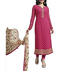 Hetal's Boutique Women's Georgette Unstitched Dress Material_77_Multicolored_Freesize