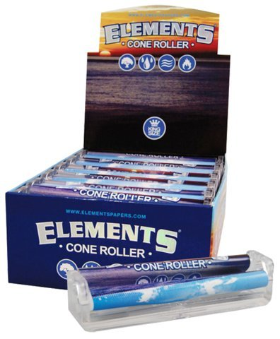 Elements Ultra Thin Rice Rolling Paper Machine - King Size Cone Roller (12 Pack Display Box) (Vapor Pen Bubbler compare prices)