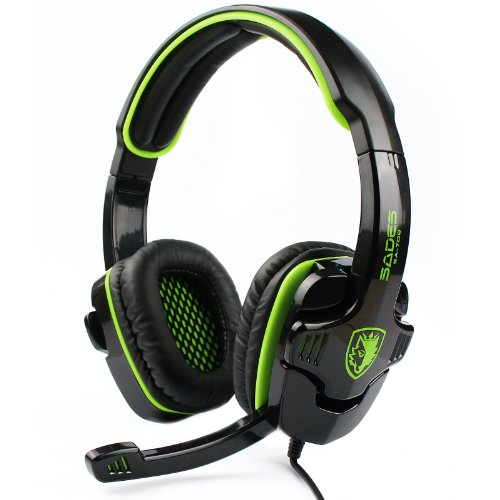 Sades Stereo Headset Headband Sa-708 Pro Game Earphone Bass Headphones With Microphone For Pc Laptop Mobile (Green)