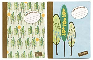 Carolina Pad Sasquatch Composition Books, Wide Rule, 9.75 x 7.5 Inches, 100 Sheets, 6-Count (3 Each of 2 Designs), Designs May Vary (12941)