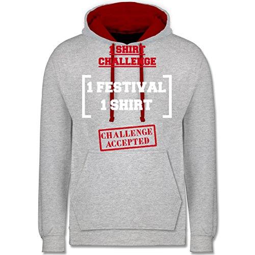 festival-1-shirt-festival-challenge-xl-grau-meliert-rot-jh003-unisex-damen-herren-kontrast-hoodie