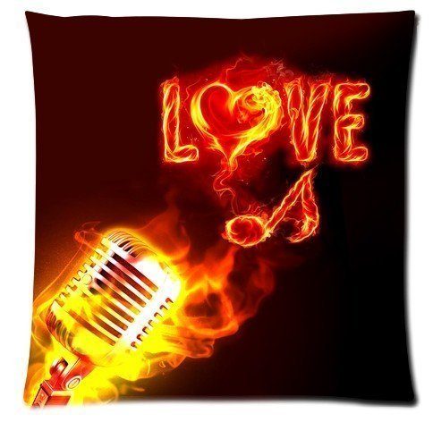 Denise Love Music Notes Floating Passion decorative pillows cheap 18x18inch (Two sides)