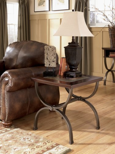 Cheap Rustic Medium Brown Zander End Table (T415-2)