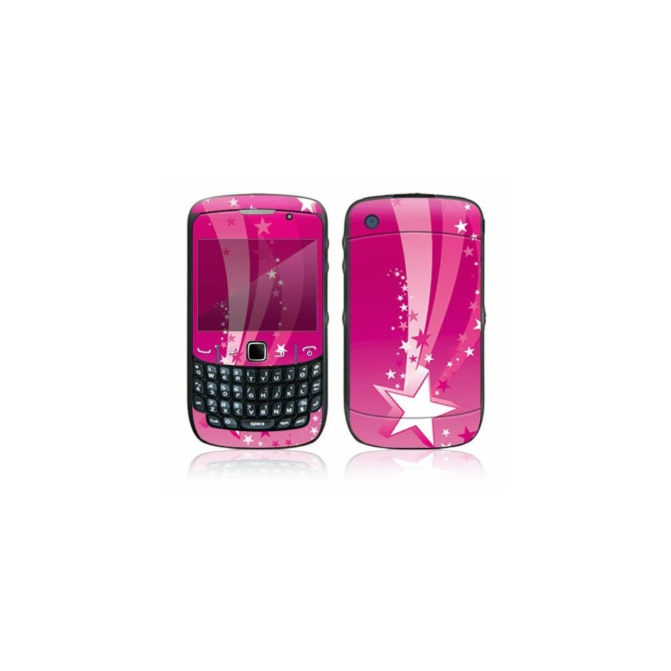 Pink Stars Decorative Skin Cover Decal Sticker for BlackBerry Curve 8500 Cell Phone