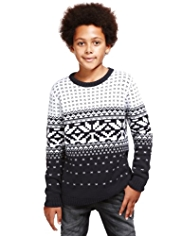Pure Cotton Snowflake Jumper