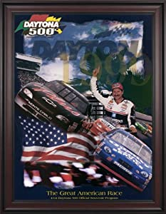 NASCAR Framed 36 x 48 Daytona 500 Program Print Race Year: 41st Annual - 1999 by Mounted Memories