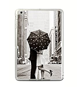 ifasho couple kissing in rain with umbrella Back Case Cover for Apple IPad Mini 4