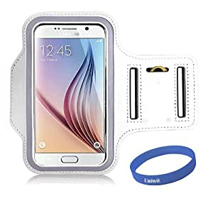 Galaxy S6/ S6 Edge Armband,Dreamwit Gym Running Sport ArmBand Protective Anti-slip Cover Case For Galaxy S6/ S6 Edge(White)