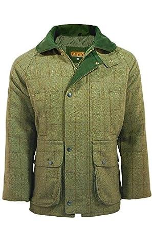 Game Men's Branded Light Derby Tweed D35 Shooting Jacket, Large
