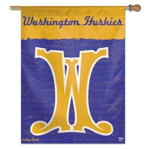 NCAA College Vault Washington Huskies 27-by-37 inch Vertical Flag ncaa south carolina gamecocks flag with grommets