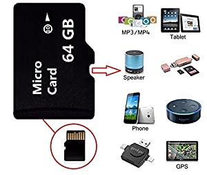 High Speed 64GB SD Micro Card Class 10 Memory Card with Free Adapter, 64 GB Micro Memory SD Card for Camcorder, Mobile Camera, Mobile Phone, PSP Memory Card and Car Driving Record