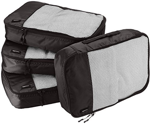AmazonBasics 4-Piece Packing Cube Set - Medium
