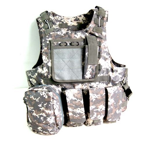 Yes Outdoor ACU Camo Tactical Molle Airsoft Vest Paintball Combat Soft Vest New