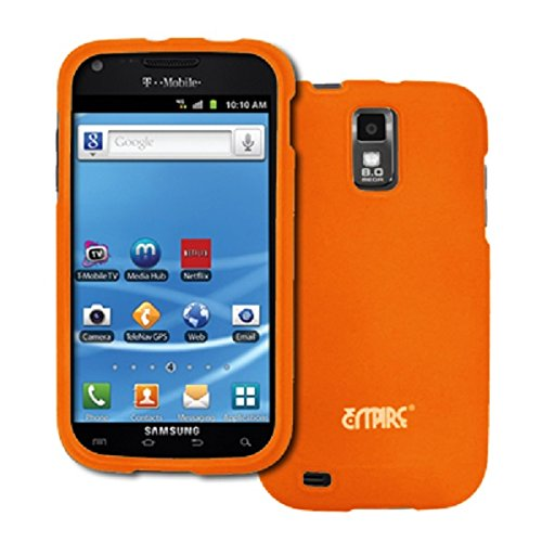 EMPIRE Orange Rubberized Hard Case Cover for T-Mobile Samsung Galaxy S II