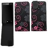 Samrick �tui � rabat en cuir avec protecteur d'�cran et tissu en microfibre pour Nokia Lumia 520 Motif floral