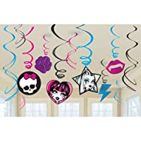 Monster High Hanging Swirl Decorations Birthday Party Pack Supplies Girl from Amscan