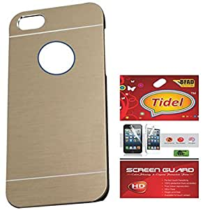 Tidel Durable Aluminium Brushed Metallic Back Cover For Apple iPhone 6 ( Golden ) With Tidel Screen Guard