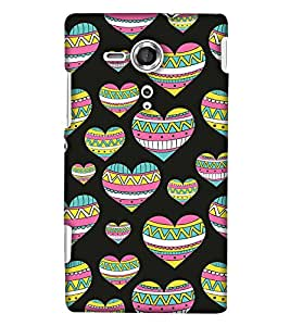 Print Haat Back Cover for Sony Xperia SP (Multi-Color)