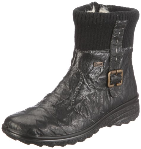 Rieker Hillary Z7054 Womens Boots Leather, black2, Size 39 EU