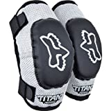 51r6pPsMHsL. SL160  Fox Racing PeeWee Titan Youth Elbow Guard MotoX/Off Road/Dirt Bike Motorcycle Body Armor   Color: Black/Silver, Size: PeeWee (ages 4 7)