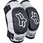Fox Racing PeeWee Titan Youth Elbow Guard MotoX/Off-Road/Dirt Bike Motorcycle Body Armor - Black/Silver / Youth (ages 6-9)