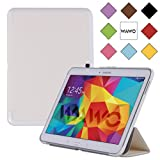 WAWO Samsung Galaxy Tab 4 10.1 Inch Tablet Smart Cover Creative Fold Case - White