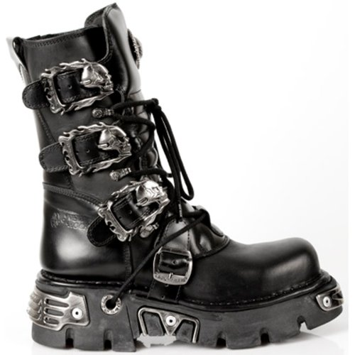 NEWROCK New Rock Stivali Stile 391 S1 Nero Reactor Unisex (39)