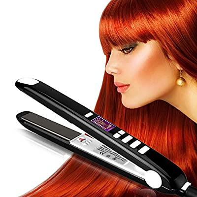 OSIR Professional Hair Straightener -- Flat Iron with Nano-Titanium Ceramic Plates can Heat Instantly