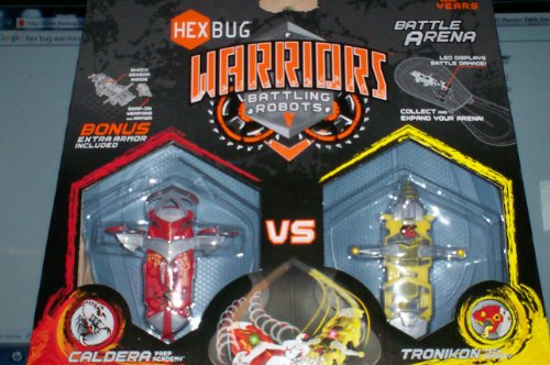 Hexbug Warriors Battle Arena: Battling Robots Caldera Vs. Tronikon