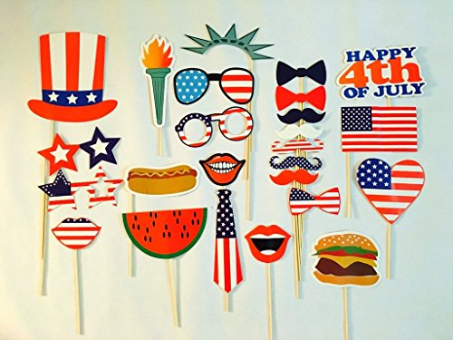 USA-SALES 4th of July Photo Booth Props, Independence Day Party Decorations, by USA-SALES Seller