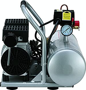 California Air Tools 2010A Ultra Quiet and Oil-Free 1.0 HP 2.0-Gallon Aluminum Tank Air Compressor (Four Pack)