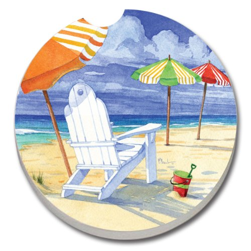 Win Beach Umbrellas / Beach Chair - Single Car Coaster By Terracoasters occupation