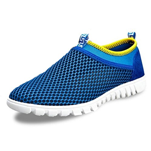 Adi Men's Breathable Running Shoes,Walk,Beach Aqua,Outdoor,Water,Rainy,Exercise,Drive,Athletic Sneakers EU45 Blue