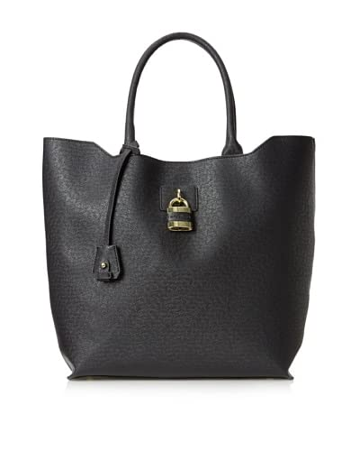 London Fog Women's Lawrence Tote Shoulder Bag  [Black]