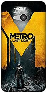 The Racoon Grip printed designer hard back mobile phone case cover for Microsoft Lumia 550. (metro last)