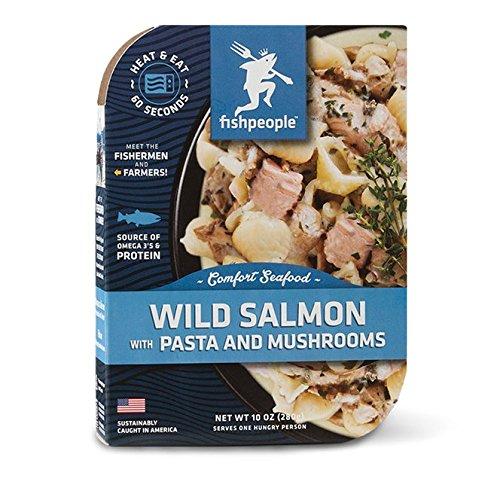 Fishpeople Chinook Salmon & Sea Shell Pasta in a Wild Mushroom Sauce, 10 Ounce