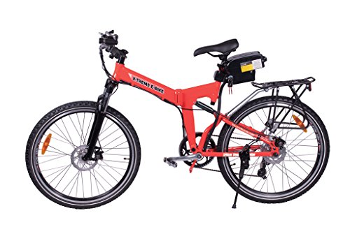 X-Treme-Scooters-X-CURSION-Folding-Electric-Mountain-E-Bike-Bicycle-Red