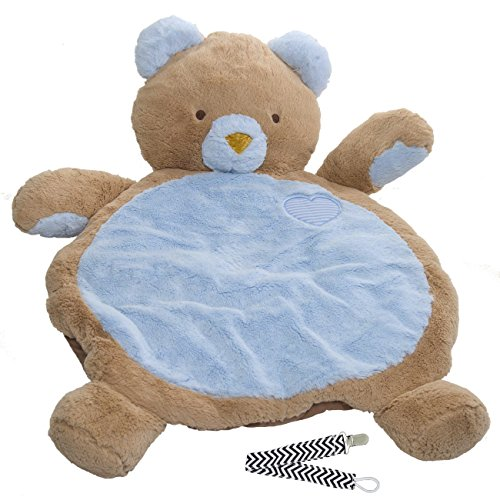 Mary Meyer 01411 Blue Bear Bestever Baby Mat with Pacifier Clip - 1